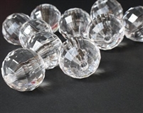 18mm Global Faceted Acrylic Beads - Clear