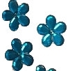 Acrylic/Plastic Flower Flat Back-21mm