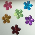 Acrylic/Plastic Flower Flat Back-6mm
