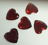 Acrylic/Plastic Heart Flat Back-18mm