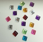 Acrylic/Plastic Square Flat Back-3mm