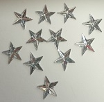 Acrylic/Plastic Star Flat Back-12mm