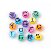10mm Round Plastic Letters-COLORS