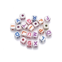 10mm Round Plastic Letters-WHITE
