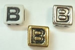 6mm Square Plastic Letter- B