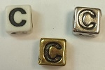 6mm Square Plastic Letter- C