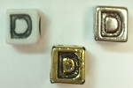 6mm Square Plastic Letter- D