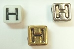 6mm Square Plastic Letter- H