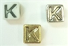 6mm Square Plastic Letter- K