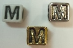6mm Square Plastic Letter- M