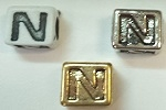 6mm Square Plastic Letter- N