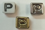 6mm Square Plastic Letter- P