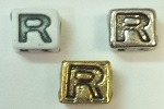 6mm Square Plastic Letter- R