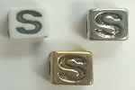 6mm Square Plastic Letter- S
