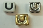 6mm Square Plastic Letter- U