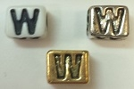 6mm Square Plastic Letter- W