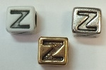 6mm Square Plastic Letter- Z