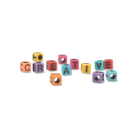 6mm Square Plastic Letters-COLORS - Vertical Hole