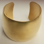 "Brass Bracelet Blank Cuff-1 1/2"" DOMED OR FLAT"