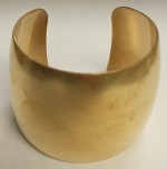 "Brass Bracelet Blank Cuff-2"" DOMED OR FLAT"