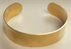"Brass Bracelet Blank Cuff-3/4"" DOMED OR FLAT"