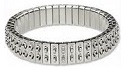 Cha Cha Expansion Bracelet Blank-2 ROW SILVER
