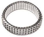 Cha Cha Expansion Bracelet Blank-3 ROW SILVER