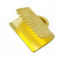 "1/2"" Choker/Ribbon Ends-GOLD PLATE"