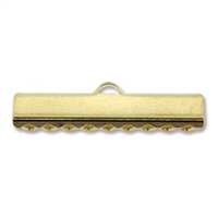 25mm Choker/Ribbon Ends-GOLD PLATE