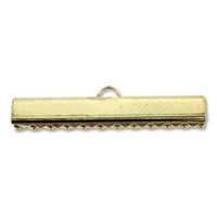 30mm Choker/Ribbon Ends-GOLD PLATE