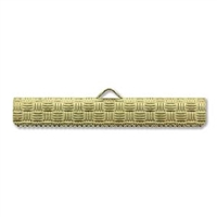 35mm Woven Pattern Choker/Ribbon Ends-GOLD PLATE