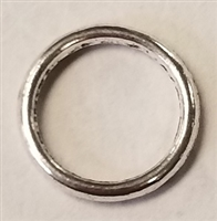 12mm Closed Pewter Jump Ring - 12 gauge