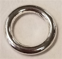 15mm Closed Pewter Jump Ring - 10 gauge