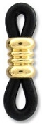 Rubberized Eyeglass Holder-BLACK/GOLD