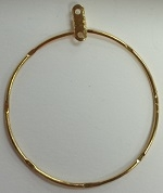 Round Hammered Earring Hoop-1 1/2""