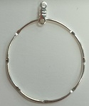 Round Hammered Earring Hoop-1 1/4""