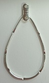 Teardrop Earring Hoop-HAMMERED SPL