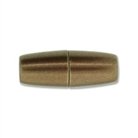 10 x 26mm Large Hole Magnetic Clasp-MATTE/BRUSHED COPPER