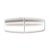 10 x 26mm Large Hole Magnetic Clasp-MATTE/BRUSHED SILVER