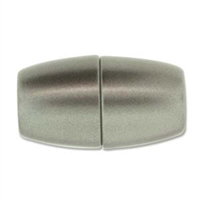 38 x 20mm Large Hole Magnetic Clasp-MATTE GRANITE