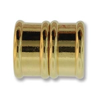 17 x 20mm (15mm Inside Diameter) Large Hole Bamboo Magnetic Clasp - GOLD