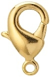 11mm Plated Lobster Clasp-GOLD