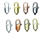 10mm x 5mm Electroplated Flat Lobster Clasp