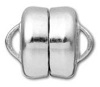 8mm Flat Plated Magnetic Clasp-SILVER
