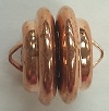 12mm Swirl Plated Magnetic Clasp-COPPER