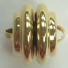 12mm Swirl Plated Magnetic Clasp-GOLD