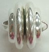 12mm Swirl Plated Magnetic Clasp-SILVER