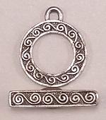 #3686 Toggle- Antique Silver Only