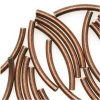 2 x 38mm Plated Curved Tube- Antique Copper