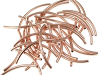 2 x 38mm Plated Curved Tube-COPPER